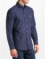 Gant Printed Oxford Dot Shirt, Navy