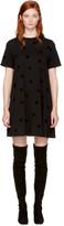 McQ Black Micro Swallow Babydoll T-Shirt Dress