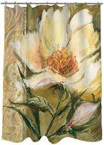 Thumbprintz Sketchbook Floral Fabric Shower Curtain