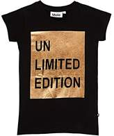 "Molo Kids Rozalia Metallic ""Unlimited Edition"" Cotton T-Shirt"