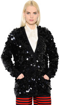 Sonia Rykiel Sequined Wool Knit Cardigan