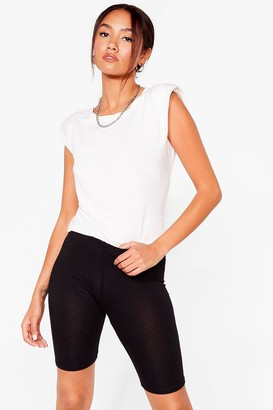 Nasty Gal Womens Bike It or Not Petite Biker Shorts - Black - 4, Black