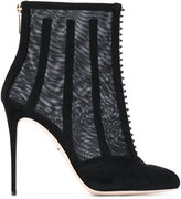 Dolce & Gabbana mesh cage ankle boots - women - Leather/Polyester/Calf Suede - 40