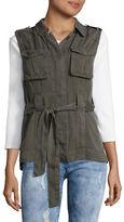 Design Lab Lord & Taylor Belted Utility Vest