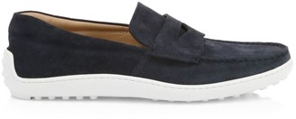 Tod's Mocassino Suede Boat Shoes