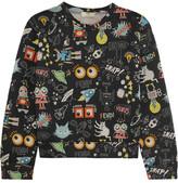 Fendi Printed Modal-neoprene Sweatshirt - Black