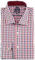 English Laundry Check Cotton Dress Shirt, Red