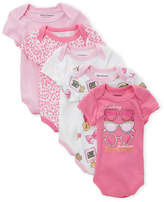 Juicy Couture Newborn Girls) 5-Pack Sunglass Bodysuits