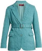 SIES MARJAN Terry crinkled wool-blend blazer