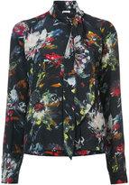 Tomas Maier scarf neck floral blouse