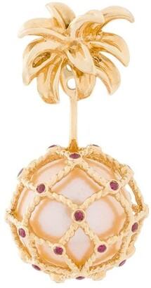Yvonne Léon Hanging Pineapple Pearl Earring