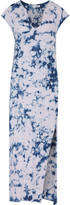 LnA Tie-dyed slub cotton maxi dress