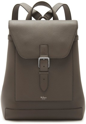 Mulberry Chiltern Backpack Earth Grey Heavy Grain