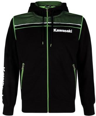 Kawasaki Sports Hooded Sweatshirt Black / Green - Black - X-Large