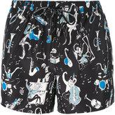 Dolce & Gabbana jazz band print swim shorts