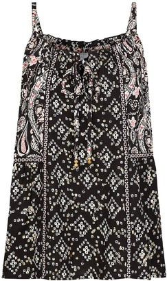 Monsoon Foil Print Sustainable Viscose Cami - Black