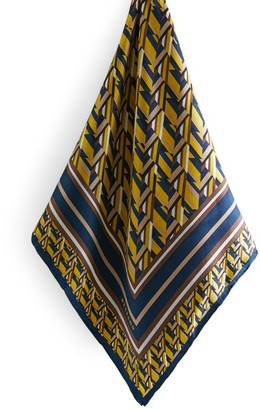 Max Mara Patterned Silk Scarf