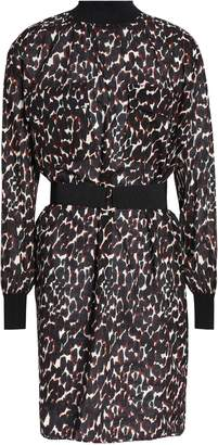 By Malene Birger Belted Leopard-print Cotton-voile Dress