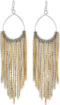 Lydell NYC Two-Tone Curb-Chain Fringe Drop Earrings