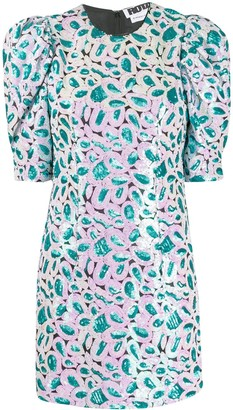 Rotate by Birger Christensen Embellished Puff Sleeve Dress