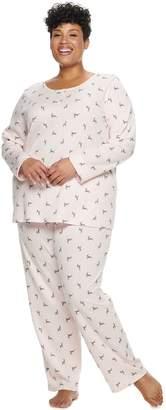 Croft & Barrow Plus Size Pajama Henley and Sleep Pants Set