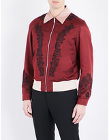 Alexander Mcqueen Embroidered Cotton And Silk-blend Jacket