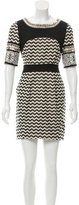 Matthew Williamson Embellished Chevron Pattern Dress