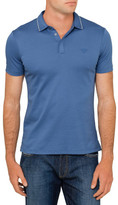 Armani Jeans Tipped Crest Logo Polo