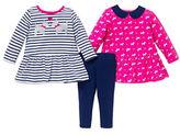 Little Me Baby Girls Peplum Tops and Pants Set
