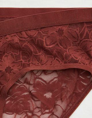 aerie Mesh Palm Lace Boybrief Underwear
