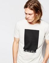 Calvin Klein Jeans T-shirt With Box Logo - Cream