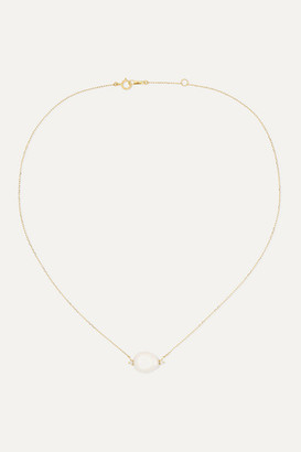 Mizuki 14-karat Gold, Pearl And Diamond Necklace