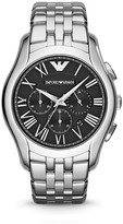 Emporio Armani Stainless Steel Black Dial Watch, 44.5mm