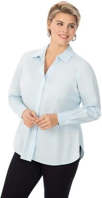 Foxcroft Womens 189296 Button Down Shirt