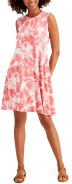 Style&Co. Style & Co Tie-Dyed Swing Tank Dress, Created for Macy's
