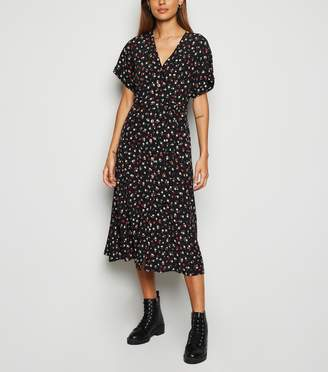 New Look Rose Button Up Midi Dress