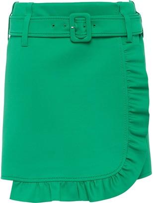 Prada Ruffle Trimming Short Skirt