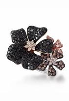 Effy Jewelry Jardin Black, Cognac & White Diamond Ring, 2.04 TCW