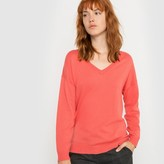 La Redoute Collections Cotton and Cashmere V-Neck Jumper