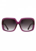 Matthew Williamson Amethyst Oversized Square Sunglasses