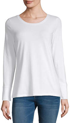 A.N.A Womens Round Neck Long Sleeve T-Shirt