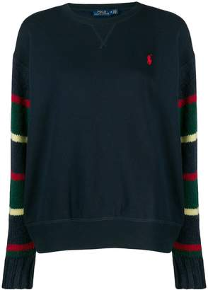 Polo Ralph Lauren striped sleeve sweater