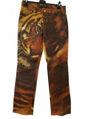 Roberto Cavalli Brown Cotton - elasthane Jeans for Women Vintage