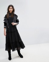 AllSaints Nima Midi Dress