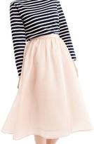 J.Crew Women's Puffs Silk Organza Skirt