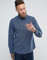 Lee Buttondown Stripe Shirt Indigo