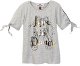 Dx-Xtreme Tie Sleeve Fashion Top - Love (Little Girls)