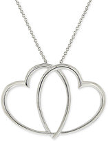 Giani Bernini Double Heart Pendant Necklace in Sterling Silver