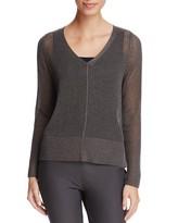 Eileen Fisher V-Neck Sheer-Knit Sweater