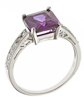 Thumbnail for your product : Sterling Forever Sterling Silver Amethyst CZ Princess Cut Engagement Ring